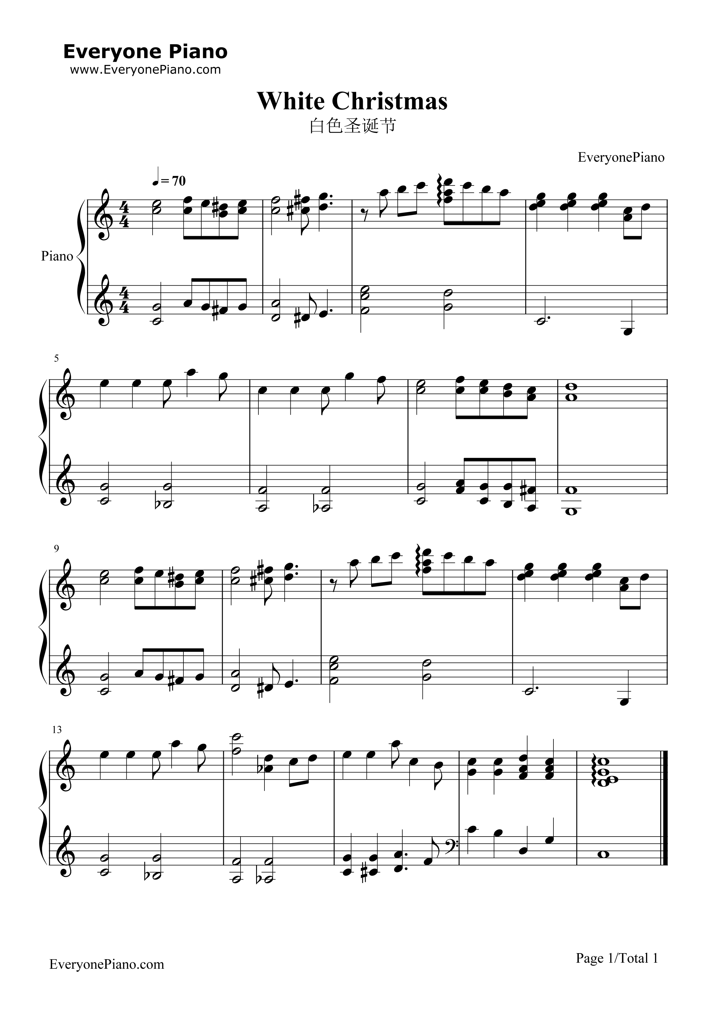 White christmas christmas song stave preview 1 free piano sheet listen now print sheet white christmas christmas song stave preview 1 hexwebz Gallery