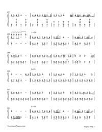 When Christmas Comes To Town-Christmas Song-Numbered-Musical-Notation-Preview-2