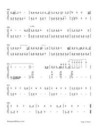 when christmas comes to town christmas song numbered musical notation preview - Polar Express When Christmas Comes To Town Lyrics