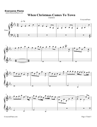 download free when christmas comes to town sheet music now stave 5 pages - Meagan Moore When Christmas Comes To Town