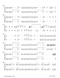 Merry Christmas Mr. Lawrence-Christmas Song Numbered Musical Notation Preview 2