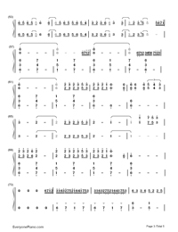 Merry Christmas Mr. Lawrence-Christmas Song Numbered Musical Notation Preview 3