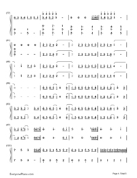 Merry Christmas Mr. Lawrence-Christmas Song Numbered Musical Notation Preview 4