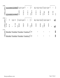 Merry Christmas Mr. Lawrence-Christmas Song Numbered Musical Notation Preview 5