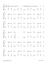 Carol of The Bells-Christmas Song-Numbered-Musical-Notation-Preview-2