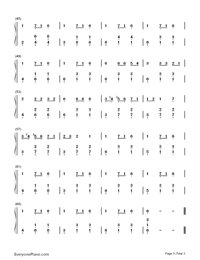 Carol of The Bells-Christmas Song Numbered Musical Notation Preview 3