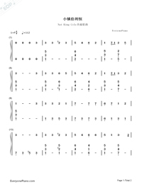 O Little Town of Bethlehem-Christmas Song-Numbered-Musical-Notation-Preview-1