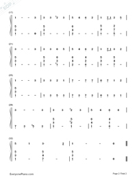 O Little Town of Bethlehem-Christmas Song-Numbered-Musical-Notation-Preview-2