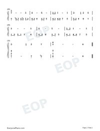 Castle In The Sky-Super Simple Edition-Numbered-Musical-Notation-Preview-2