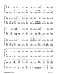 Common Jasmine Orange-Numbered-Musical-Notation-Preview-2
