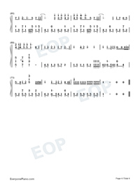 Common Jasmine Orange-Numbered-Musical-Notation-Preview-4