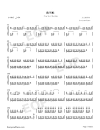 I'm Not Worthy-On The Run-Numbered-Musical-Notation-Preview-1