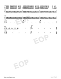 I'm Not Worthy-On The Run-Numbered-Musical-Notation-Preview-3