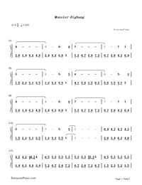 Monster-Big Bang-Numbered-Musical-Notation-Preview-1