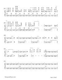 Monster-Big Bang-Numbered-Musical-Notation-Preview-3
