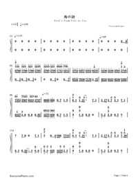 Bird's Poem-Tori no Uta-Numbered-Musical-Notation-Preview-1