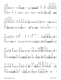 Bird's Poem-Tori no Uta-Numbered-Musical-Notation-Preview-3