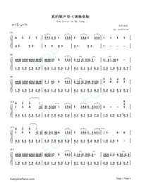 You Exist in My Song in C Major-Simple Version Numbered Musical Notation Preview 1