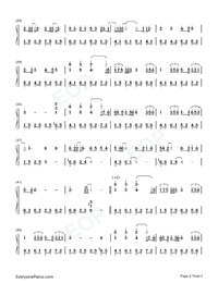 You Exist in My Song in C Major-Simple Version Numbered Musical Notation Preview 2