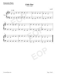 小星星中级版-eop教学曲钢琴谱档(五线谱,双手简谱,数图片