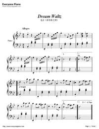 Dream Waltz-Super Simple Version Stave Preview 1