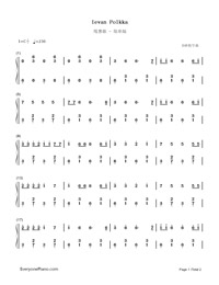 Ievan Polkka-Easy Version-Numbered-Musical-Notation-Preview-1