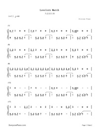 Lovelorn March-Easy Version Numbered Musical Notation Preview 1