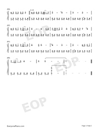 Beautiful in White-Westlife Numbered Musical Notation Preview 3