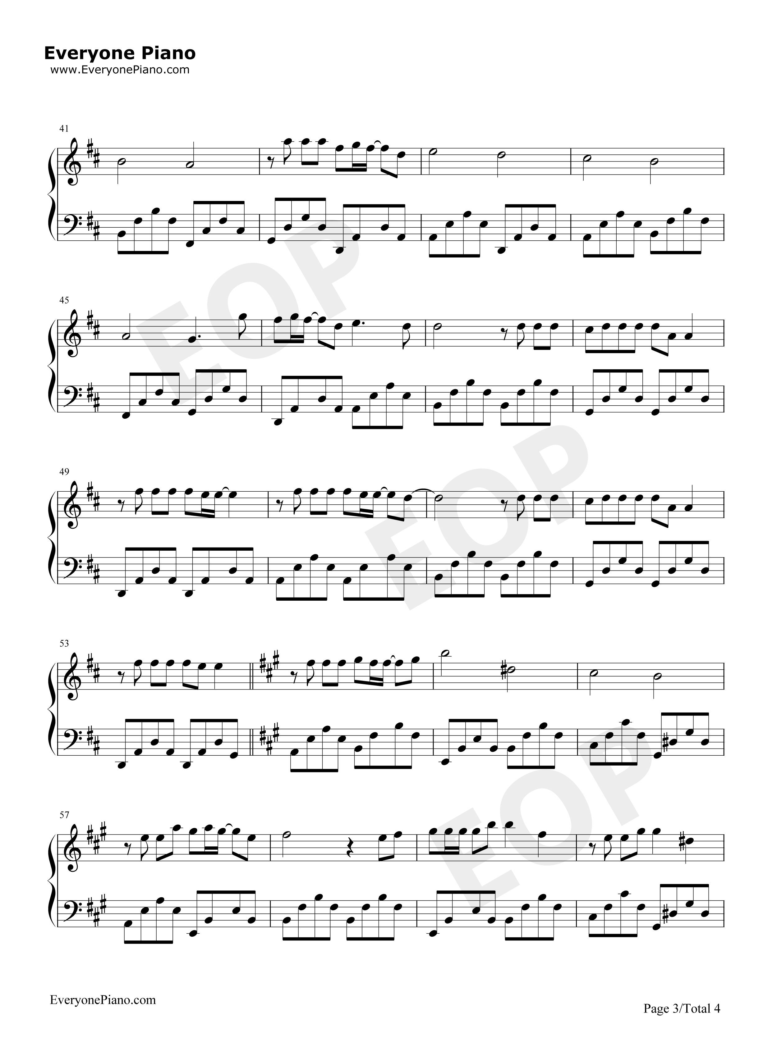 Beautiful in white westlife stave preview 3 free piano sheet listen now print sheet beautiful in white westlife stave preview 3 hexwebz Gallery