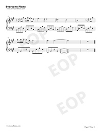 Beautiful in White-Westlife Free Piano Sheet Music & Piano