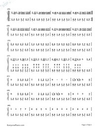 Canon In D-Simple Version-Numbered-Musical-Notation-Preview-2