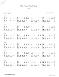 The First Snowflakes-Simplified Version-Numbered-Musical-Notation-Preview-1