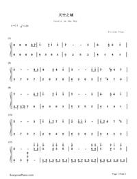 Castle In The Sky-Simplified Version-Numbered-Musical-Notation-Preview-1