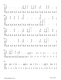 Castle In The Sky-Simplified Version-Numbered-Musical-Notation-Preview-2