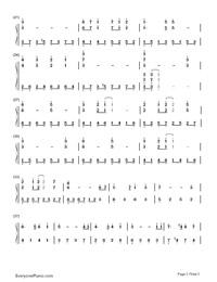 天空の城ラピュタ(中級バージョン)両手略譜プレビュー2