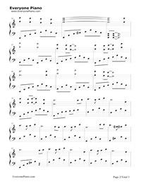 天空の城ラピュタ(中級バージョン)五線譜プレビュー2