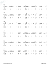 Canon In G-Simple Version-Numbered-Musical-Notation-Preview-2