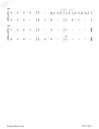 Canon In G-Simple Version-Numbered-Musical-Notation-Preview-3
