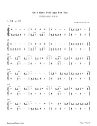 Only Have Feelings For You-Numbered-Musical-Notation-Preview-1