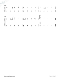 Castle in the Sky-Moderate Version-Numbered-Musical-Notation-Preview-3