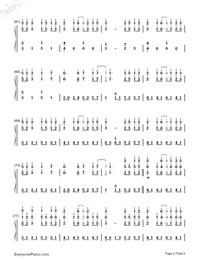 だんご大家族-CLANNADエンディングテーマ両手略譜プレビュー4