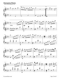 だんご大家族-CLANNADエンディングテーマ五線譜プレビュー2