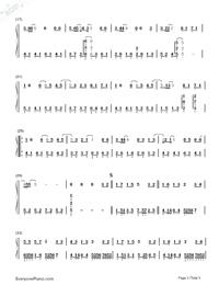 愛轉角簡單版-羅志祥雙手簡譜預覽2