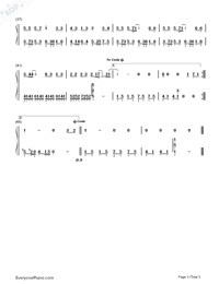 愛轉角簡單版-羅志祥雙手簡譜預覽3