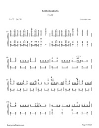 SenbonZakura-Thousand Cherry Blossoms-Hatsune Miku Numbered Musical Notation Preview 1