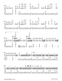 SenbonZakura-Thousand Cherry Blossoms-Hatsune Miku Numbered Musical Notation Preview 4