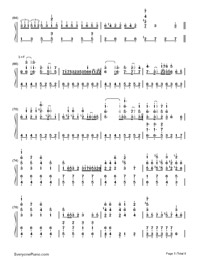 SenbonZakura-Thousand Cherry Blossoms-Hatsune Miku Numbered Musical Notation Preview 5