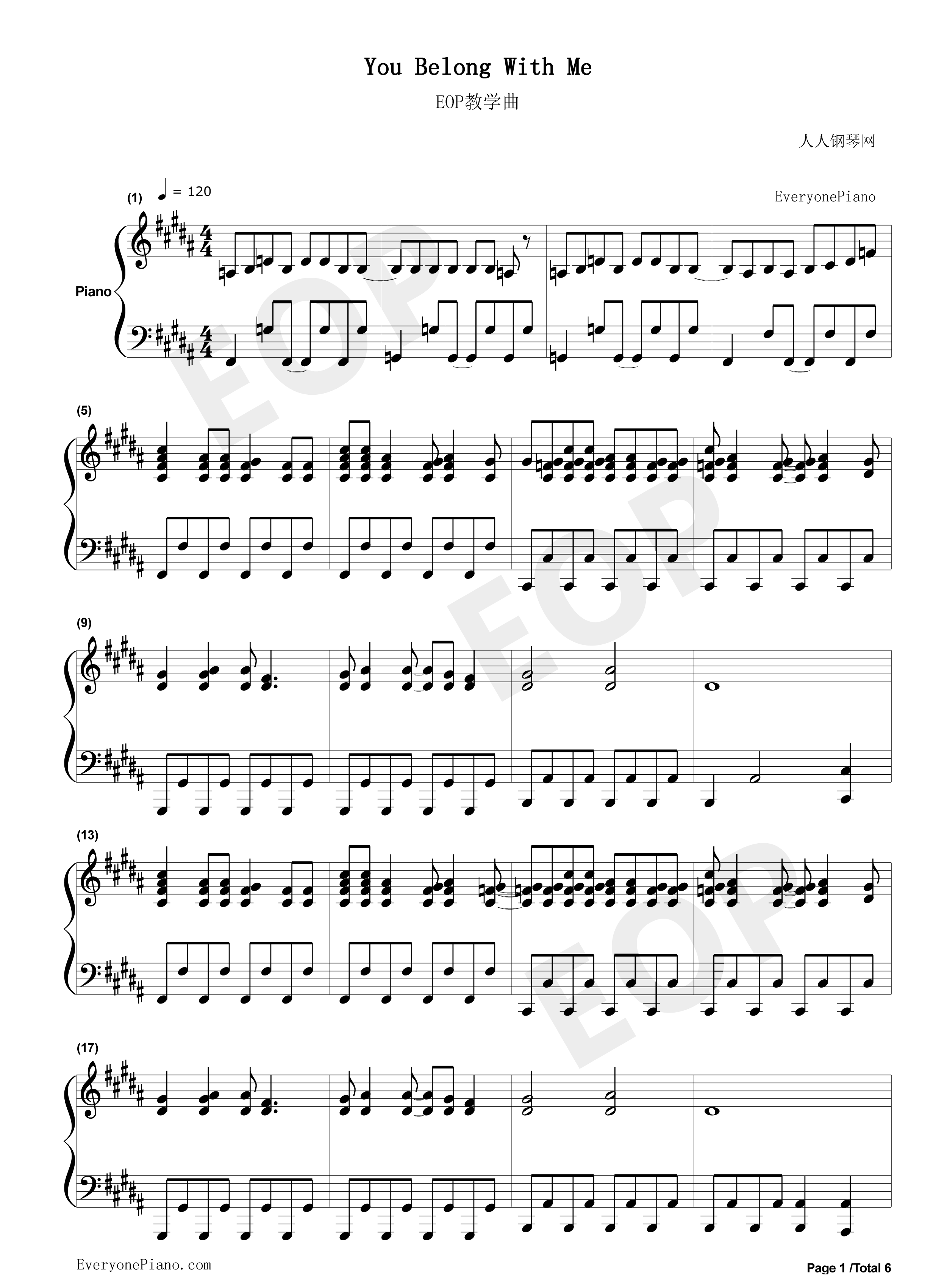 You belong with me taylor swift stave preview 1 free piano sheet listen now print sheet you belong with me taylor swift stave preview 1 hexwebz Image collections