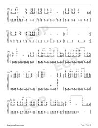 One Glance Ten Thousand Years-Numbered-Musical-Notation-Preview-3
