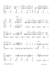 Servant of Evil-Numbered-Musical-Notation-Preview-3